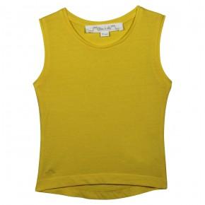 T-shirt jaune sans manches