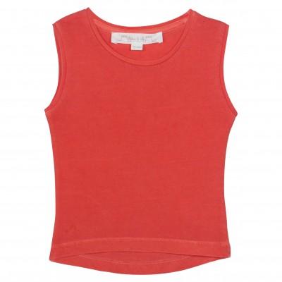 Coral sleevesless t-shirt