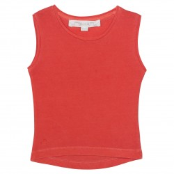 Coral sleevesless t-shirt