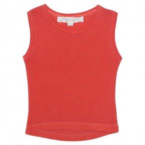 T-shirt corail sans manches