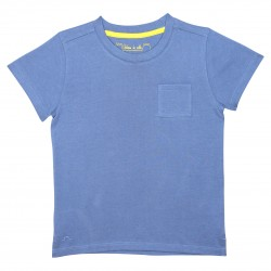 Boy basic blue t-shirt with a pocket