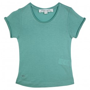 T-shirt basique bleu pour fille