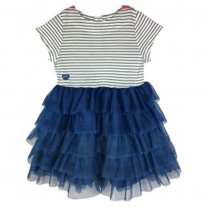 Girl ruffles dress with stripes Belle-Ile