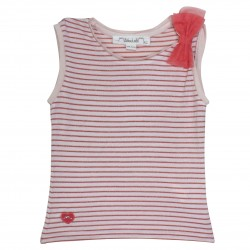 Girl striped sleeveless t-shirt Belle-Ile
