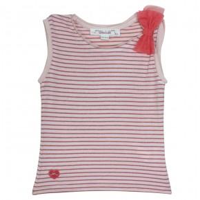T-shirt fille sans manches rayé Belle-Ile