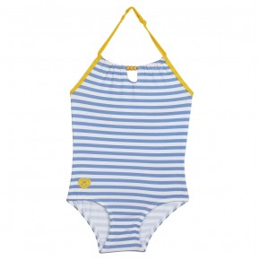 Girl striped swimsuit