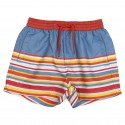 Striped boy beach short