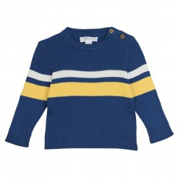 Knitted pullover with stripes