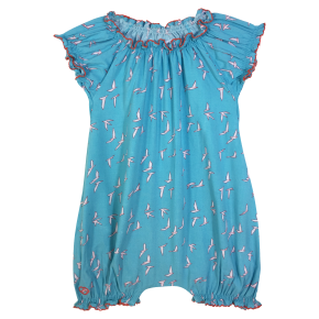 Baby Girl Romper with Birds Prints
