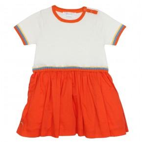 Robe fille orange et blanche Holidays