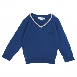 Knitted pullover with stripes Sous-Marin