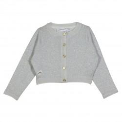 Grey sparkling cropped cardigan