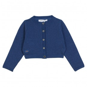 Blue sparkeling cropped cardigan