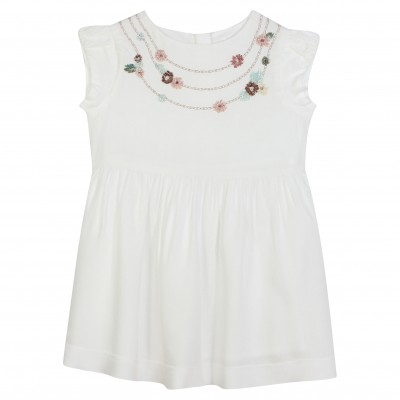 Dress with flower embroidery Party