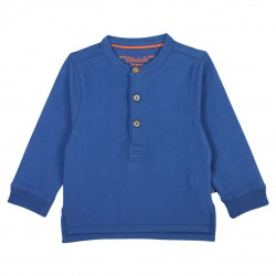 Blue polo long sleeves La Bohème