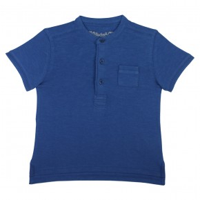 Blue Basic Soft Cotton Polo
