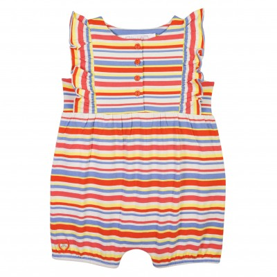 Orange girl romper in Tencel Holidays