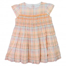 Orange Hand-Smocked Dress