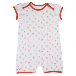 Baby girl romper coral