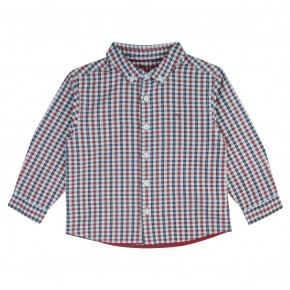 Red and Navy Checked Shirt