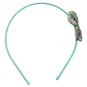 Blue hairband with liberty bow