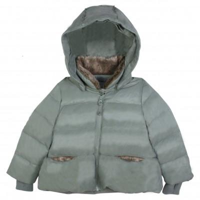 Padded green coat
