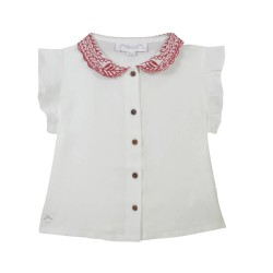 Embroidered Collar Blouse