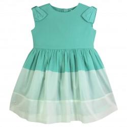 Bow-sleeve dress