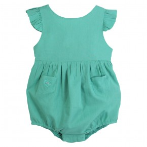 Backless baby romper