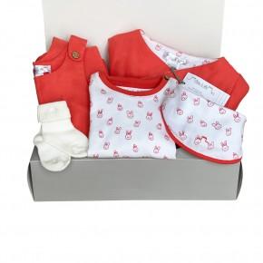 Orange Unisex Baby Set