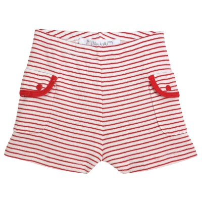 Paul Striped Cotton Shorts