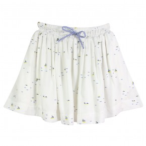 Sailboat Print Skirt