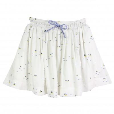 Sailboat Print Skirt