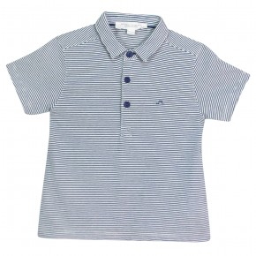 Striped Cotton Polo Tee
