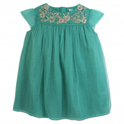Hand Embroidery Tulle Dress