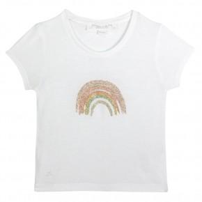 Rainbow glitter tee-shirt