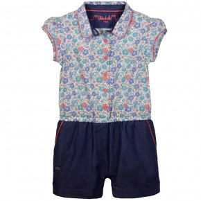 Liberty Top Denim Playsuit