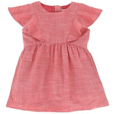 Ruffled Sleeve Cotton Dress