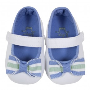 Stripes Bow Baby Shoes