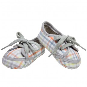 Checkered Lace Baby Shoes