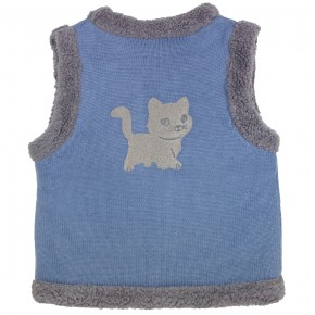 Cat Motif reversible vest