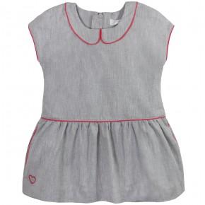 Low waist linen dress