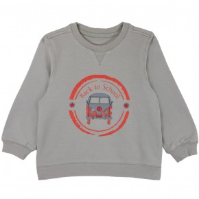 Sweater with Bus Motif