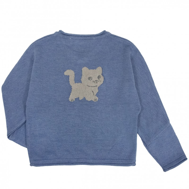 Knitting Pattern For Cat Sweater : Cat Knit Sweater - Chateau de sable