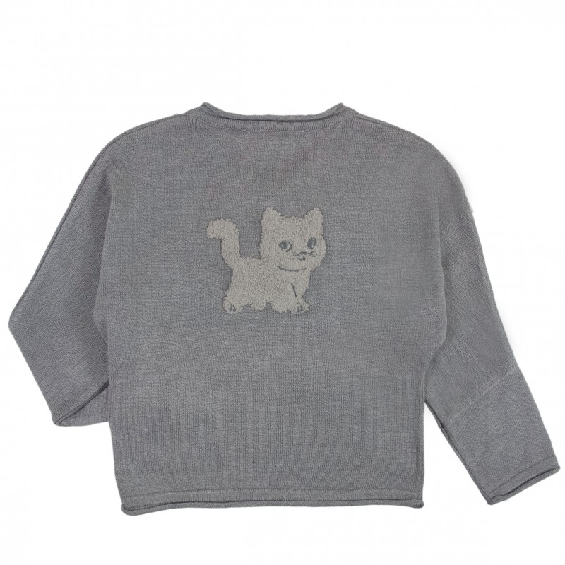 Cat Knit Sweater - Chateau de sable