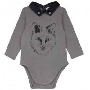 Fox Motif Bodysuit
