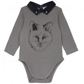 Fox Motif Bodysuit
