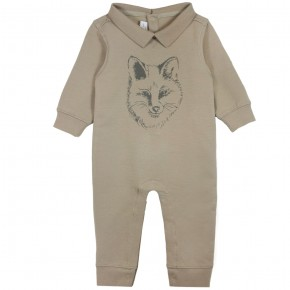 'Fox' Print rompersuit