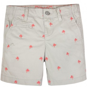 """Palm Tree"" Motif Shorts"