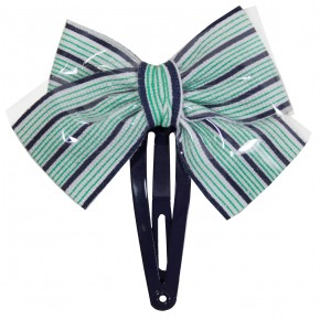 Stripes Bow Hair Clip